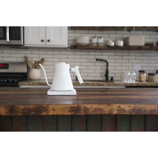 Stagg EKG Kettle w Base in the kitchen